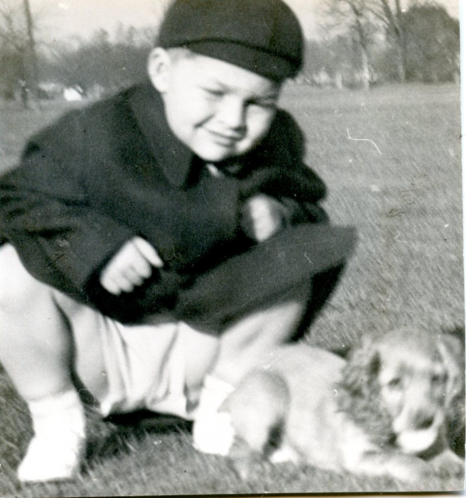 Alex (age 3) and his dog