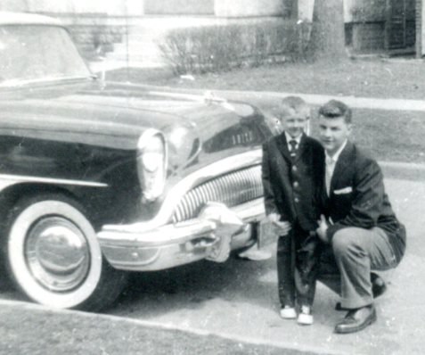 Alex and his brother Rossford, Ohio 1959