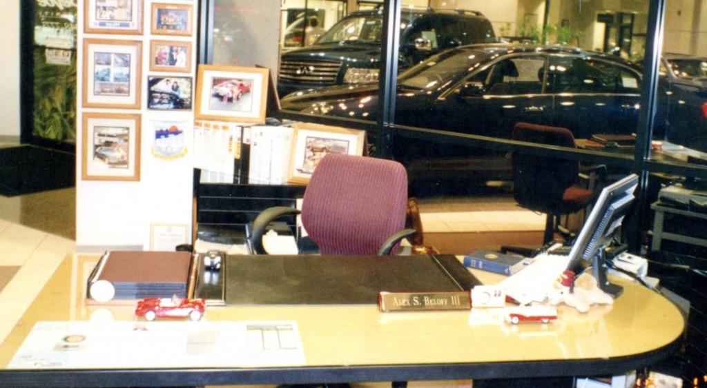 Alex's office at DeVoe Infiniti, Naples FL
