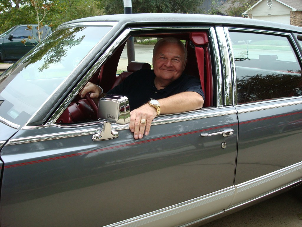 Alex with his 1991 Academy Grey Cadillac Fleetwood