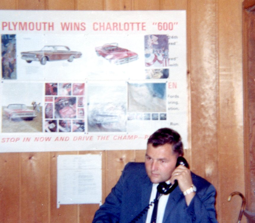 A broom closet at Brown Motors in 1991 was turned into Alex's office