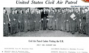 Alex with Lord Mayor of London and US Civil Air Patrol 1958