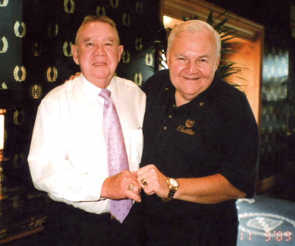 Alex and ______     of Taylor Cadillac, Toledo OH with Cadillac Crest Club 16 diamond rings,