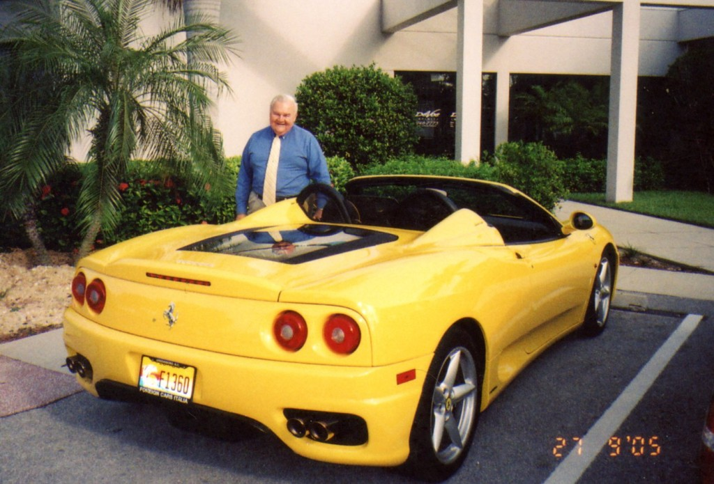 One of Alex's owners at DeVoe Infiniti stopped to see him with newest car, a 2005 Ferrari