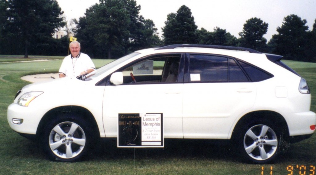 Alex for Lexus of Memphis sponsored the hole in one shot at Colonial CC