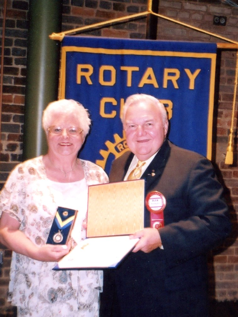 Alex made Connie Sharp a Rotary Paul Harris Fellow
