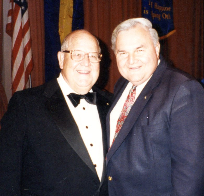 Alex with RI President Clifford L. Dochterman