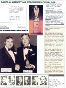 Sales and Marketing Executives of Dallas Victor Award 1983 to Alex Beloff