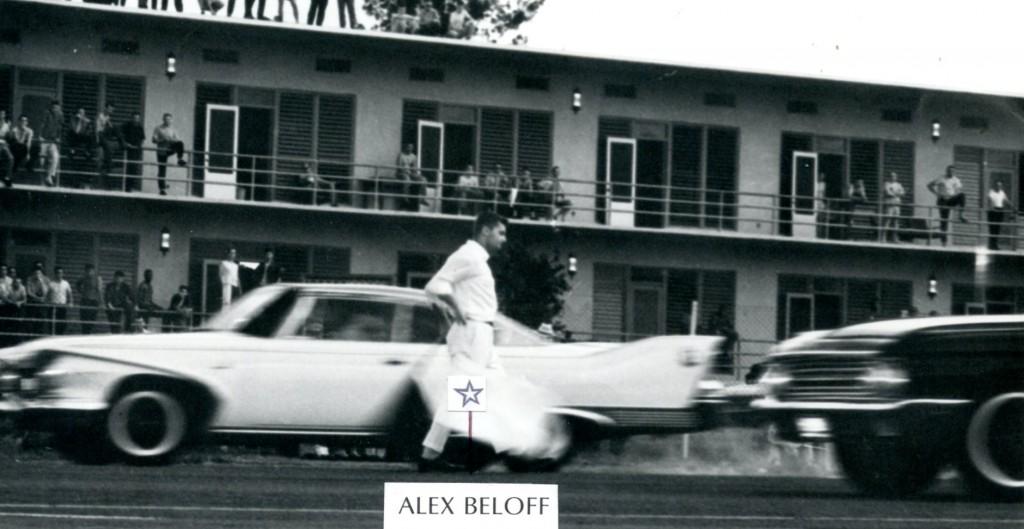 Alex as flagman at Clark AFB on a Sunday racing on airfield