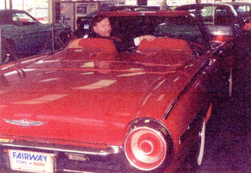 Alex in a beautiful convertible 1991