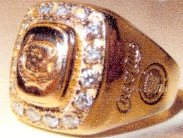 Alex's 16 diamond Cadillac Crest Club ring